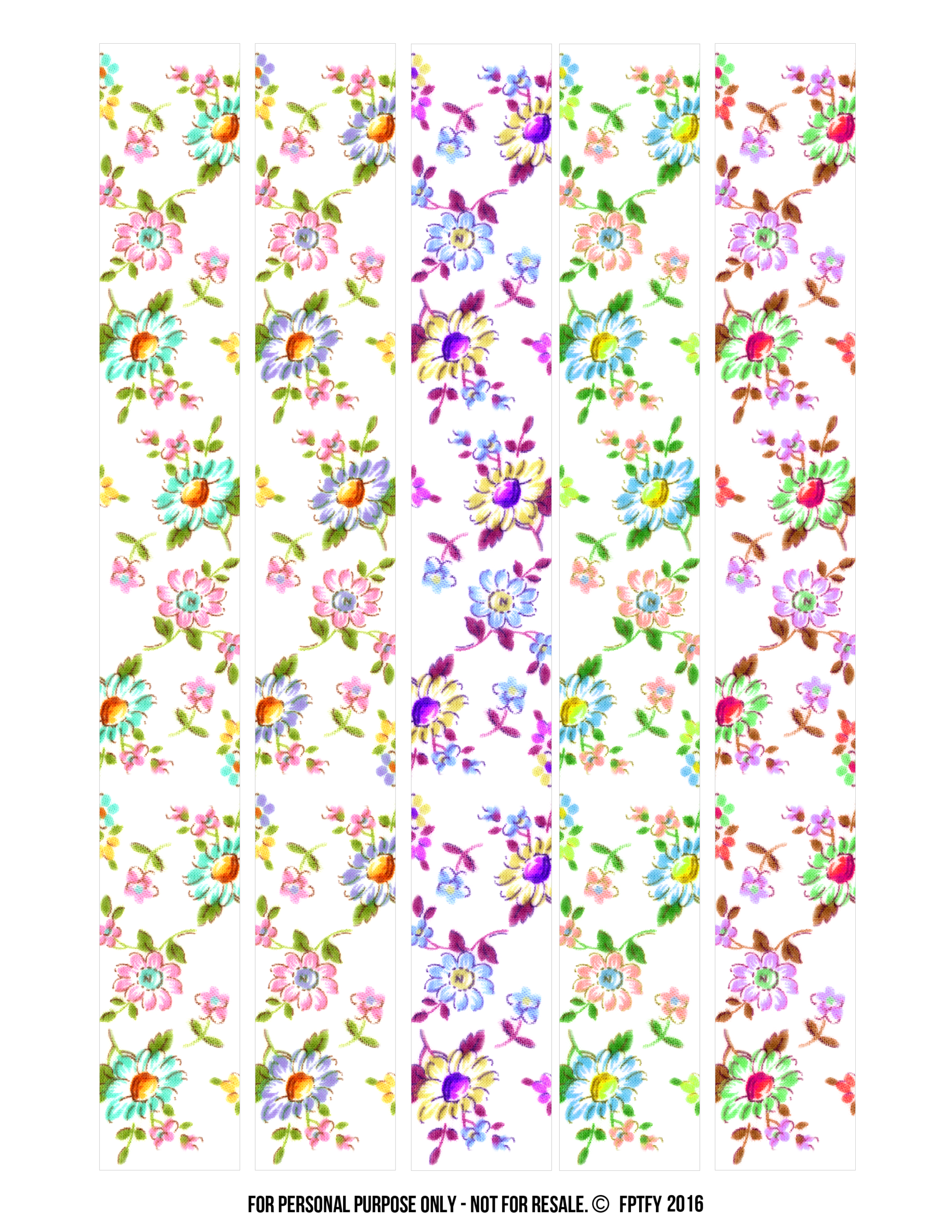 image regarding Free Printable Washi Tape named Absolutely free Floral Electronic Washi Tape! - Absolutely free Quite Elements For Oneself