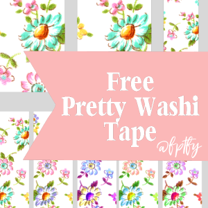 Free Floral Digital Washi Tape!