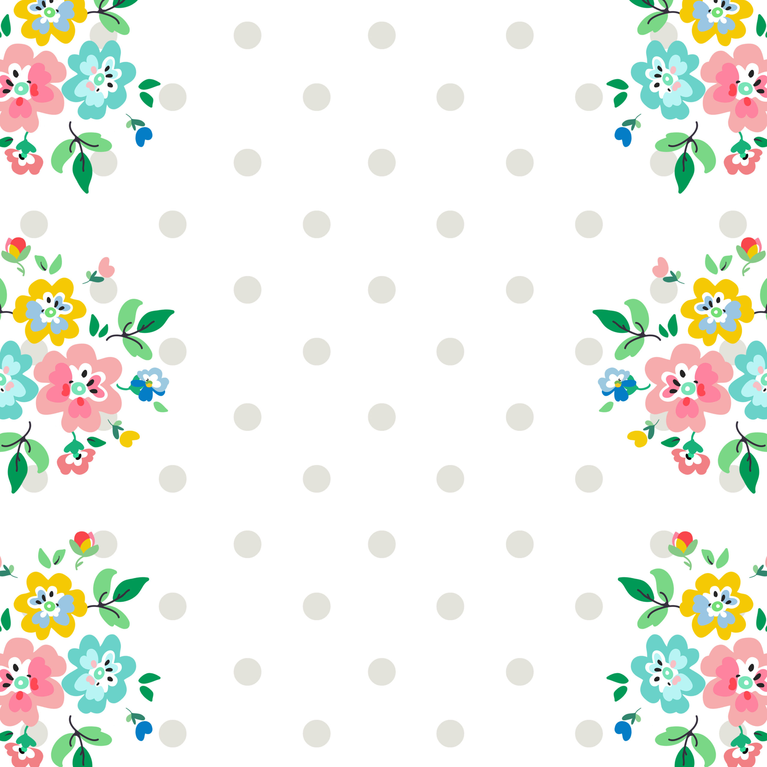 Calendar Design God : Scrapbooking paper floral delight free pretty things