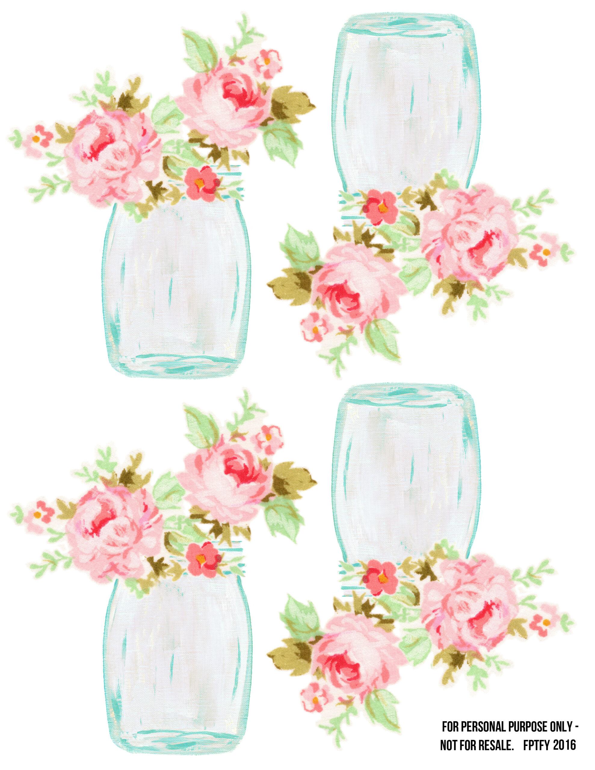 Free Mason Jar Floral Tags- Pretty! - Free Pretty Things ...