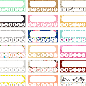 Free Variety Pack Habit Tracker Planner Stickers!