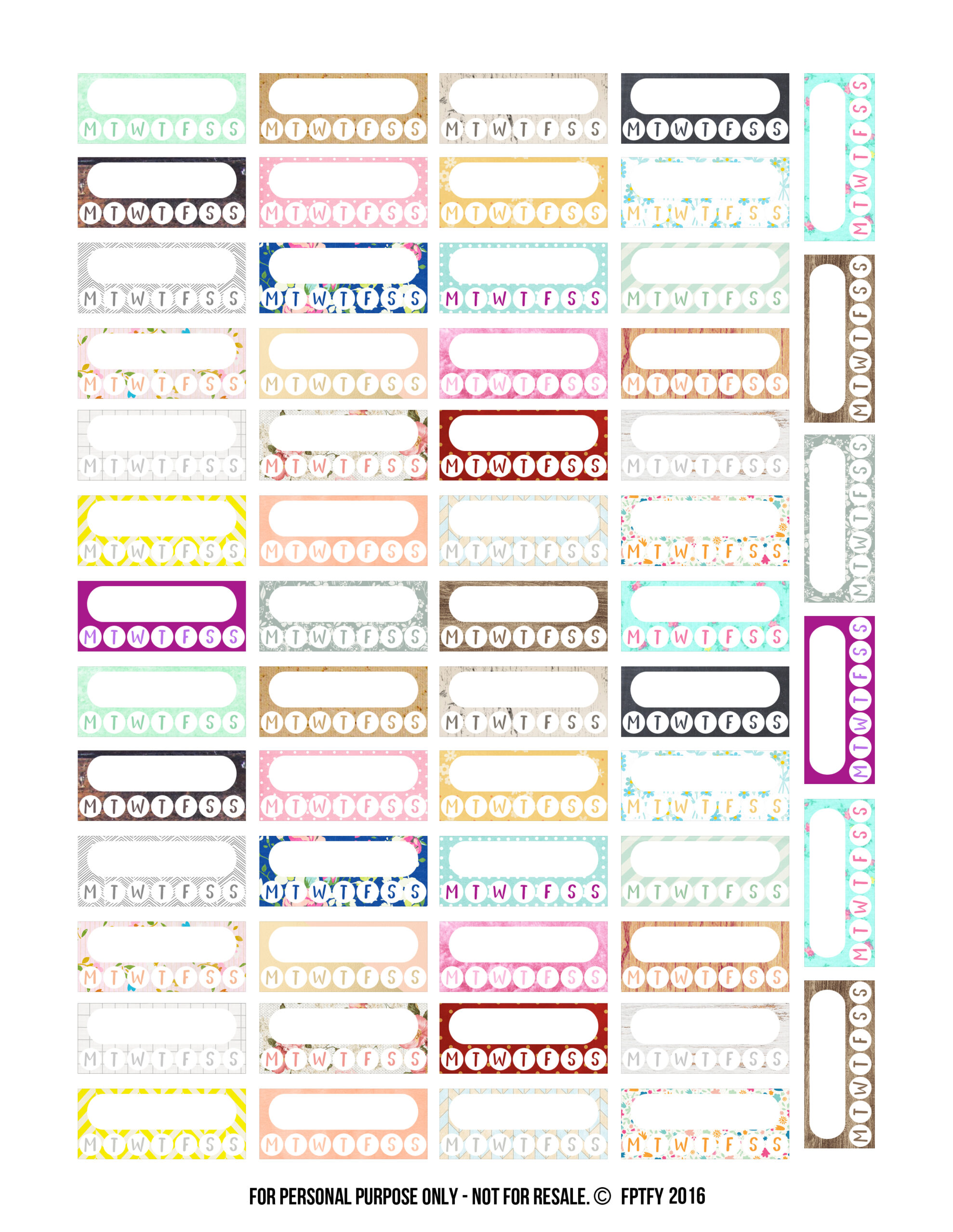 Free Variety Pack Habit Tracker Planner Stickers Free Pretty Things For You
