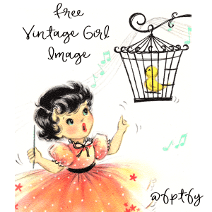 Free Vintage Little Girl- So Cute!