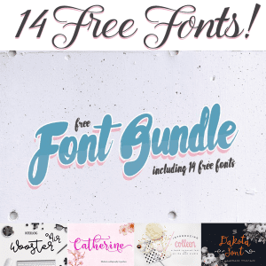 The Free 14 Fonts Bundle – Expires in 3 Days!
