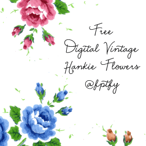 Free Digital Vintage Hankie Flowers