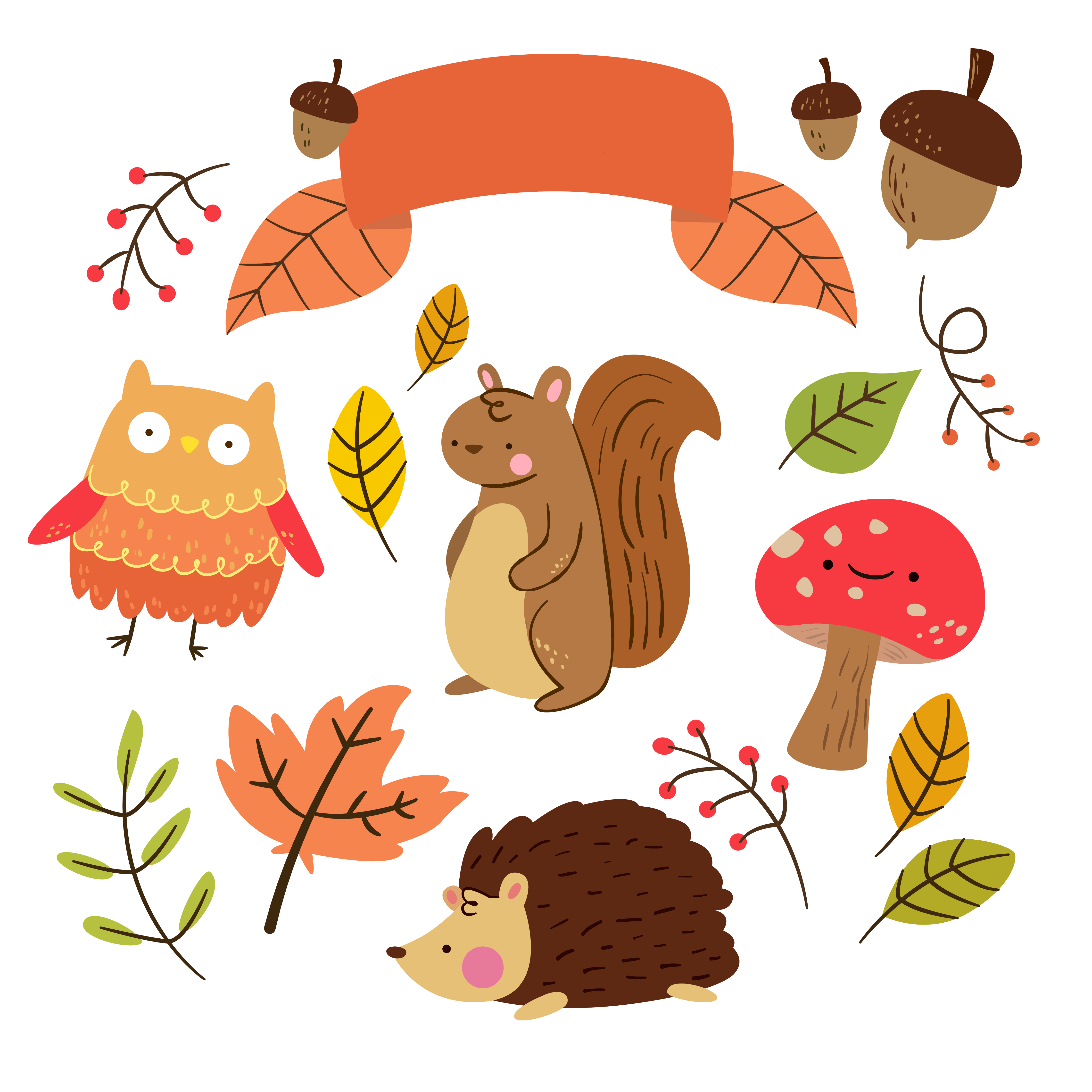 Free Critter Autumn Planner Stickers and Clip Art! - Free ...