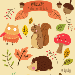 Free Critter Autumn Planner Stickers and Clip Art!