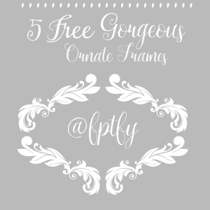 5 Free Gorgeous Large  Ornate Frames-CU-ok!