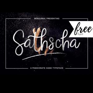 Free Font: Sathscha Script