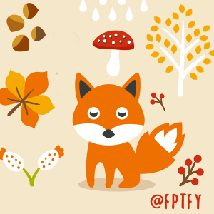 Free Cute Autumn Animal Clip Art and Planner Stickers!