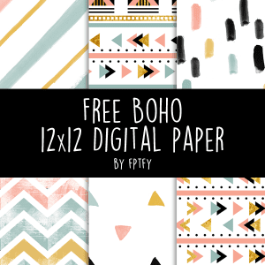 Free Boho Digital Paper- Lovely!