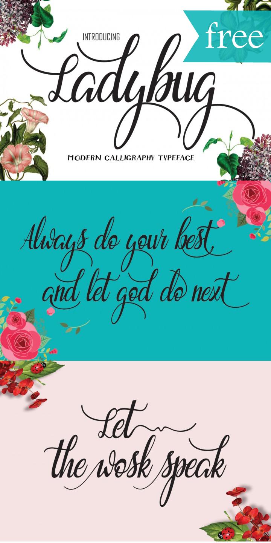 free-ladybug-font