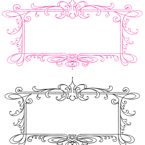 Free Vintage Calligraphy Frames – Lovely!