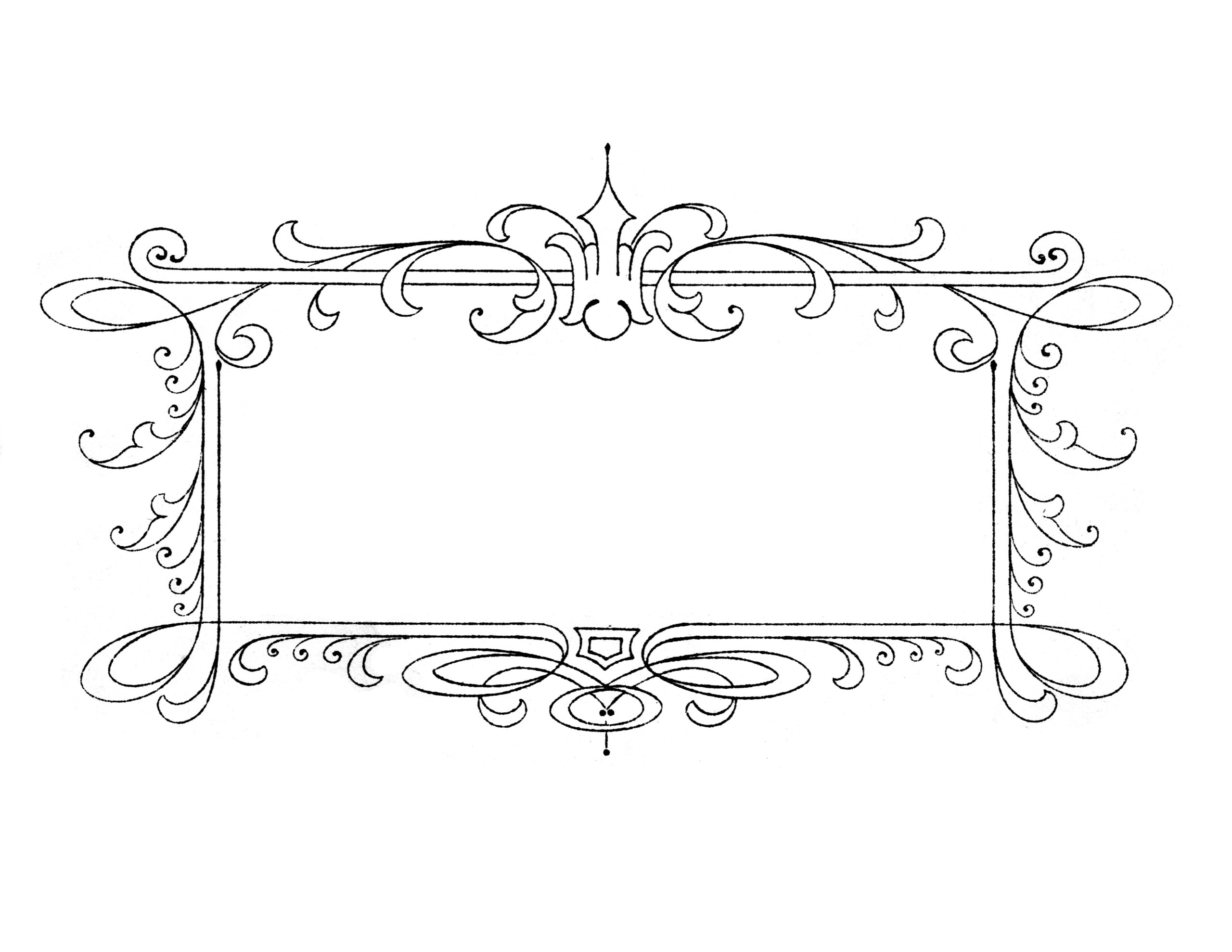 Free vintage calligraphy frames lovely pretty