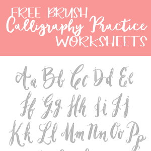 Free Brush Calligraphy Practice Worksheets!