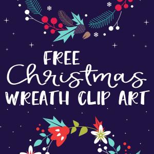 Free Christmas Wreath Clip Art!