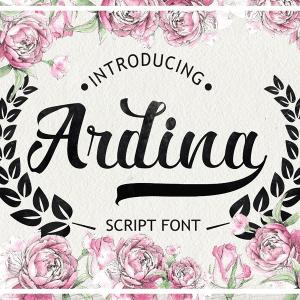 Free Gorgeous Ardina Script Font