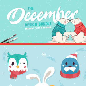December Design and Winter Animal Freebie!