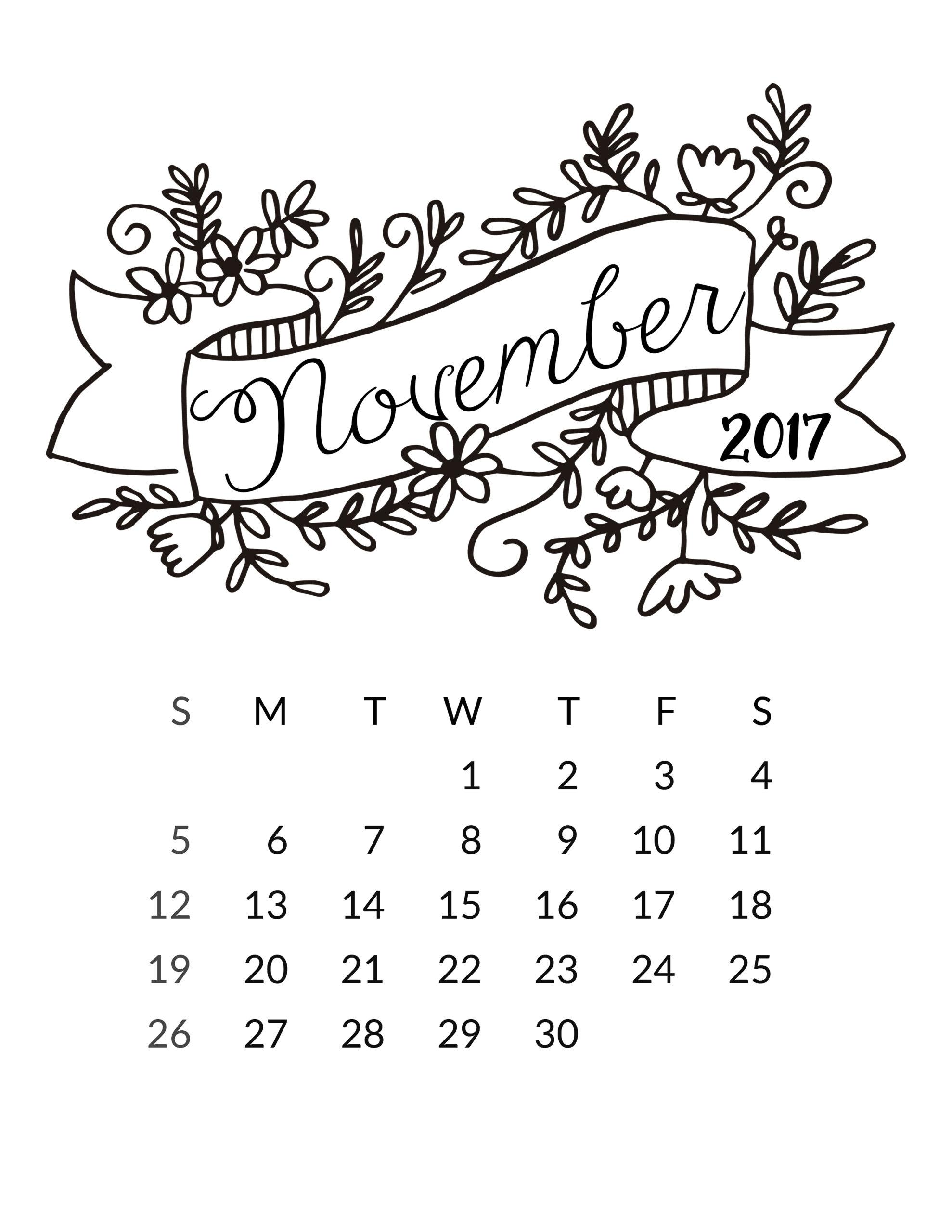 free 2017 printable calendar free pretty things for you