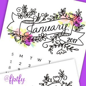 Free 2017 Printable Calendar!