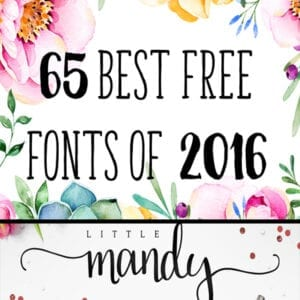 65 Best Free Fonts of 2016!