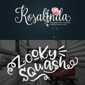 Rosalinda & Zooky Squash Free Fonts!