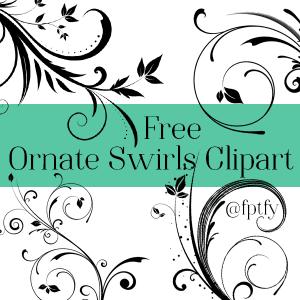 9 Free Ornate Swirl Clipart -CU ok!