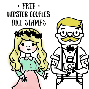 Free Hipster Couples Digi Stamps!