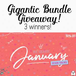 Giveaway: Gigantic January Bundle – 3 winners! CLOSED