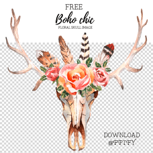 Featured Designer: Helen Field + Free Boho Chic Floral Skull Image!