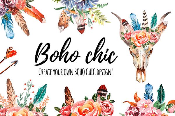 Featured Designer Helen Field Free Boho Chic Floral Skull Image