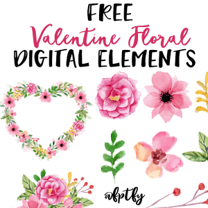 Free Valentine Floral Digital Elements-CU ok!