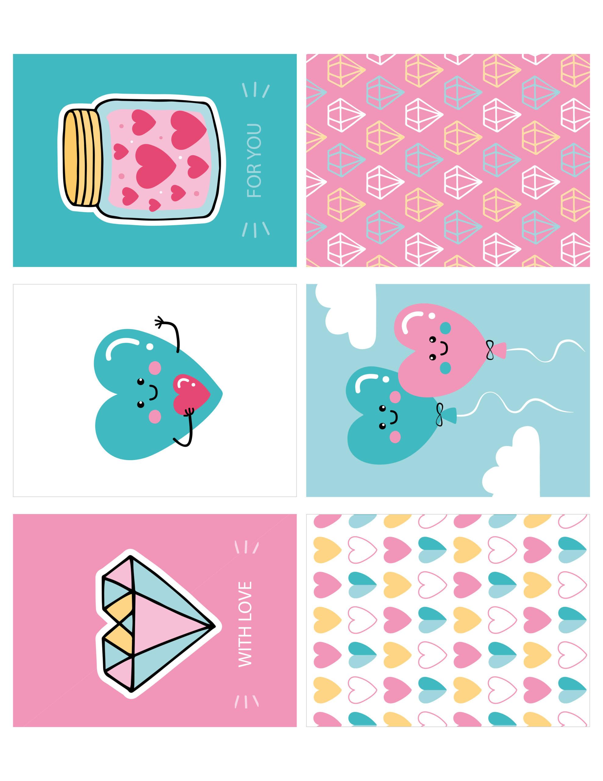 cute free love 3x4 printable cards  free pretty things