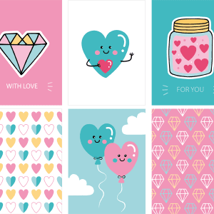 Cute Free Love 3×4 Printable Cards!