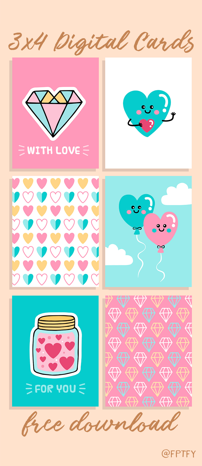 Cute Free Love 3x4 Printable Cards! - Free Pretty Things For You