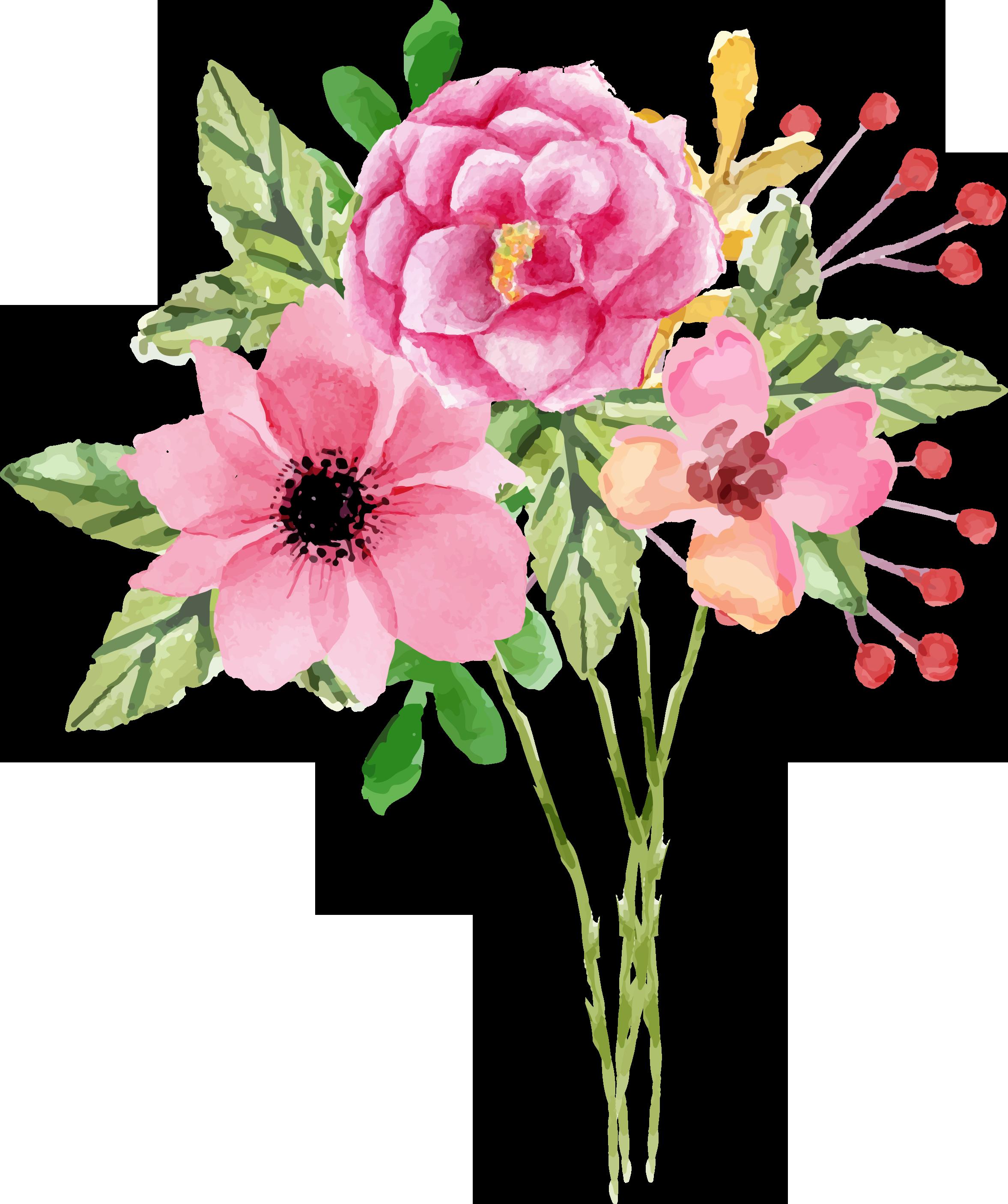 free valentine floral digital elementscu ok free