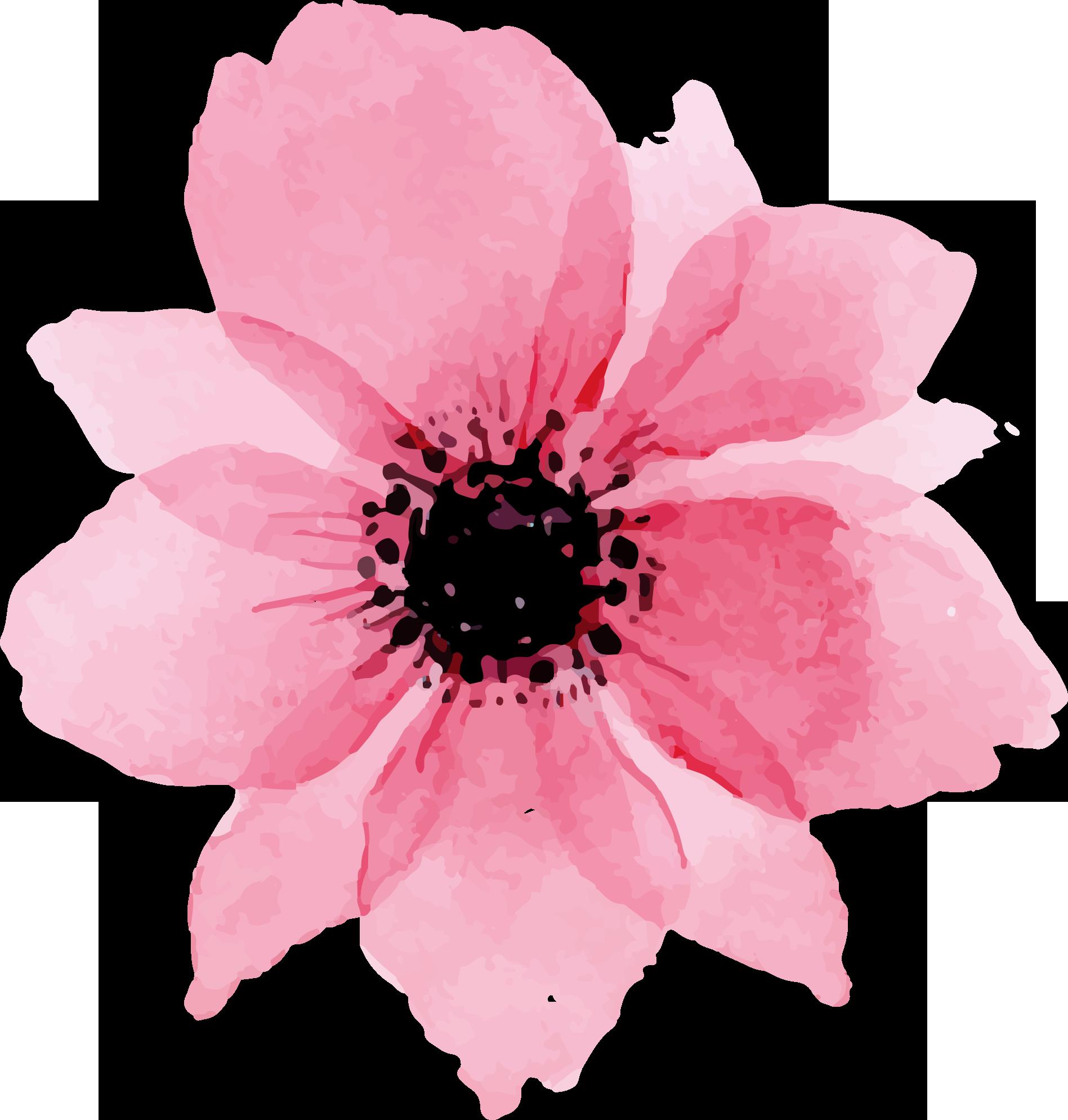 Free Valentine Floral Digital Elements CU Ok Free