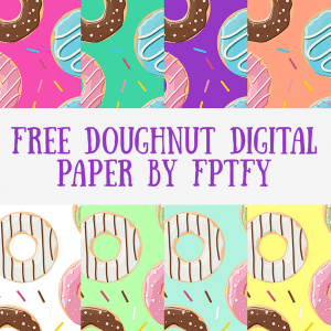 Free Doughnut Digital Paper- Multi Color Pack!