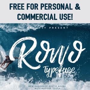 Free Rowo Brush Font
