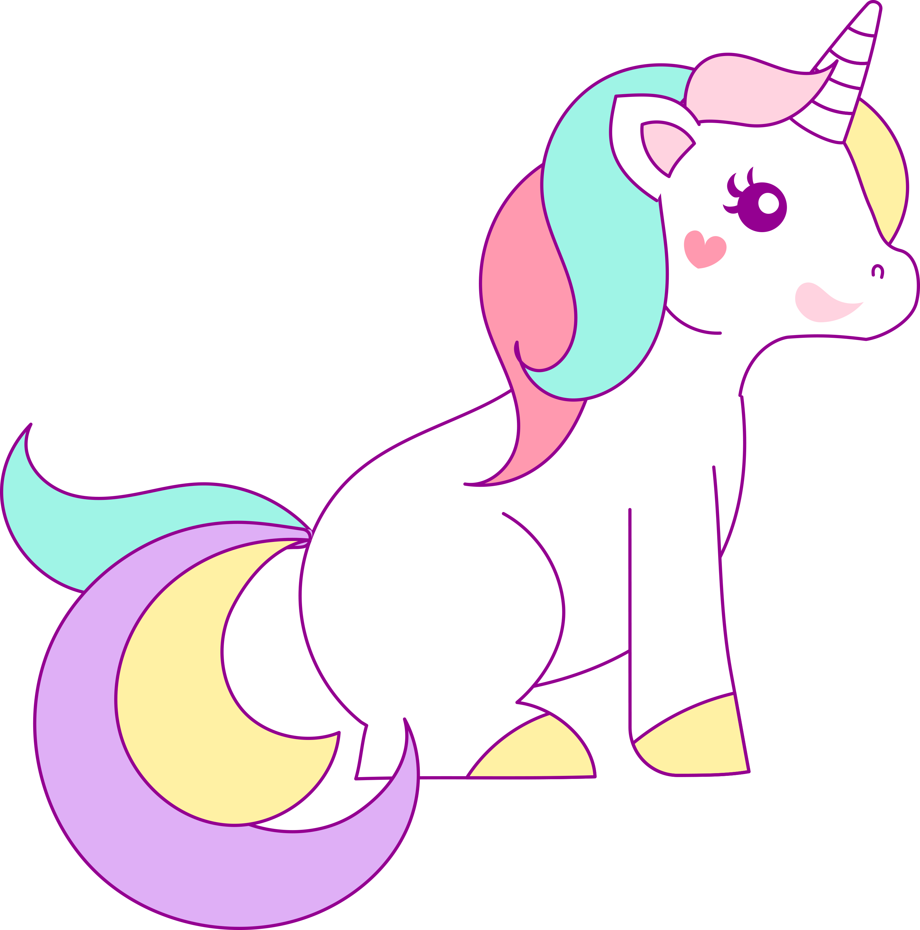Free Hand Drawn Unicorn Clip Art - Free Pretty Things For You