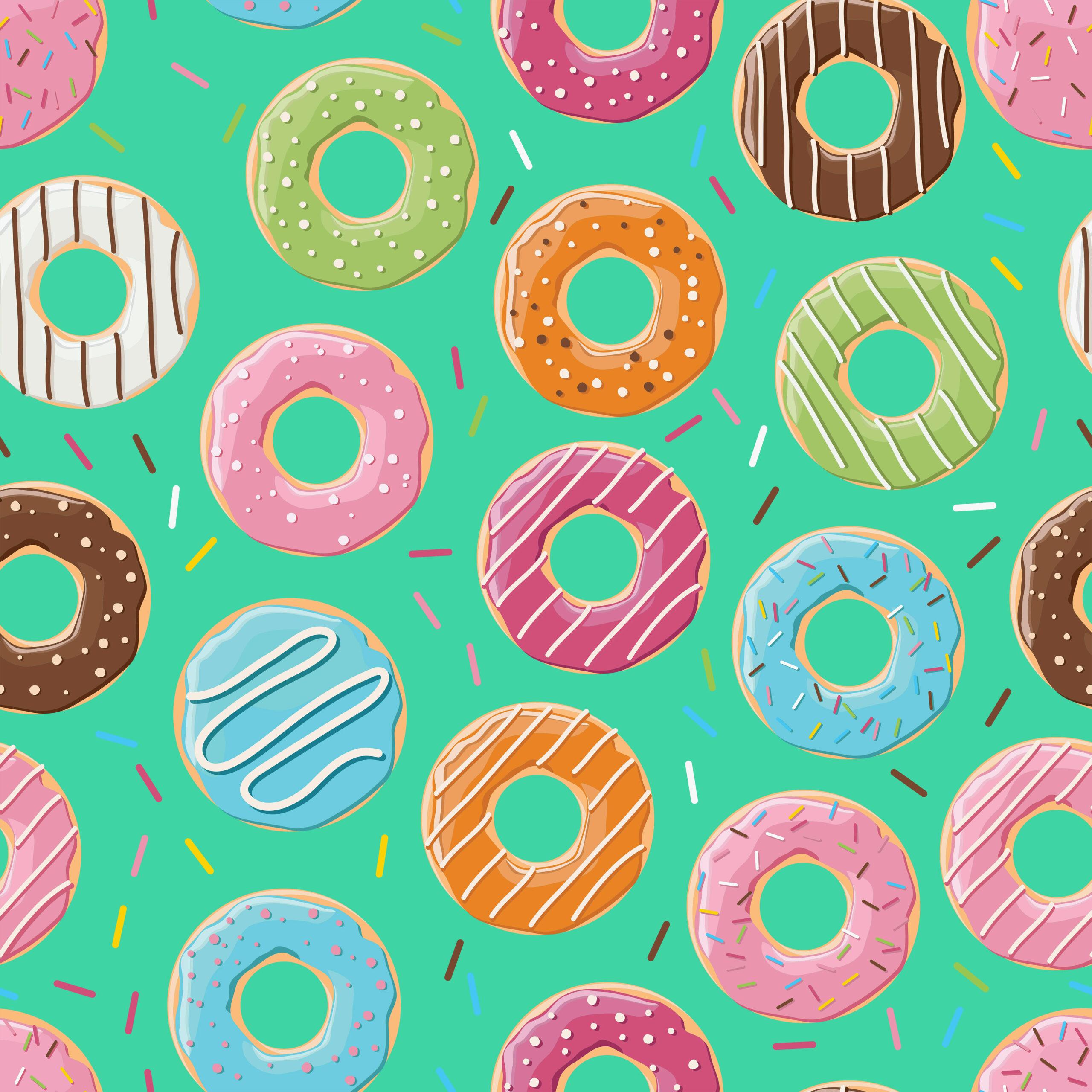 Free Doughnut Digital Paper Multi Color Pack Free