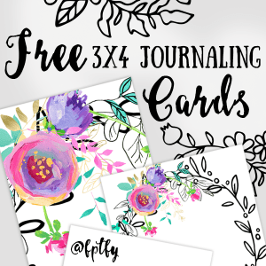 Free 3×4 Journaling Cards Mint and Purple