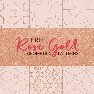 Free Rose Gold Geometric Digital Papers