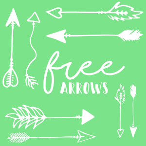 12 Hand drawn arrows