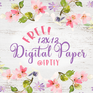 Delightful Distressed Floral Digital Paper