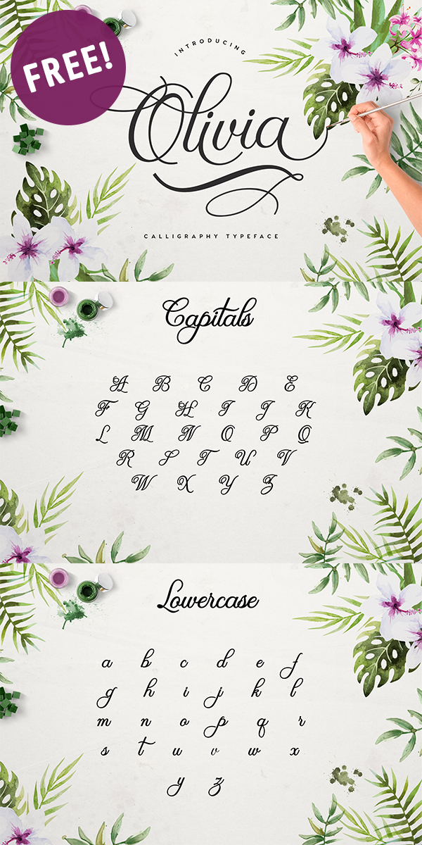 Free Olivia Script Font! - Free Pretty Things For You