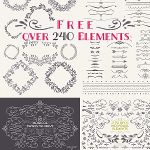 Free – Over 240 Elements by Lisa Glanz!