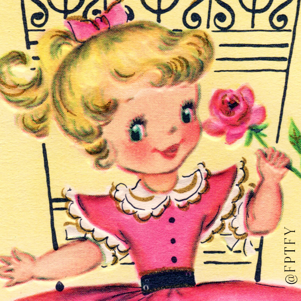 Adorable Vintage Girl in Pink