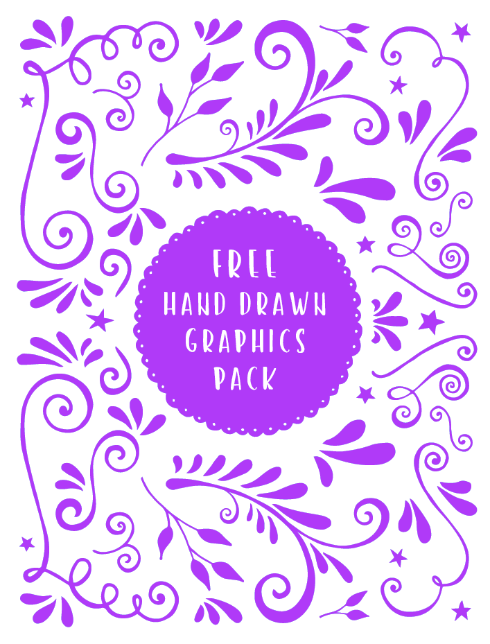 Free Vector Hand Drawn Swirly Graphics Pack
