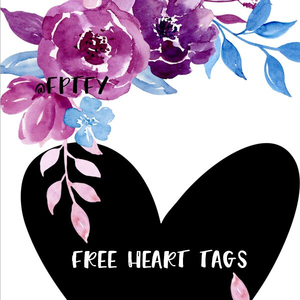 Lovely Printable Heart Tags
